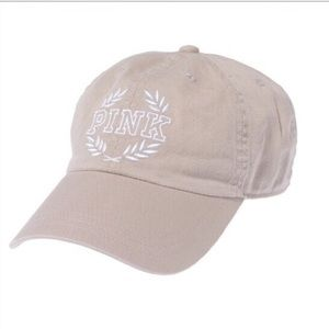 VS PINK Khaki Baseball Hat